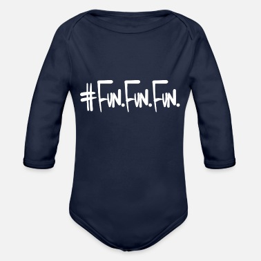 Fun Fun Fun Fun - Organic Long-Sleeved Baby Bodysuit