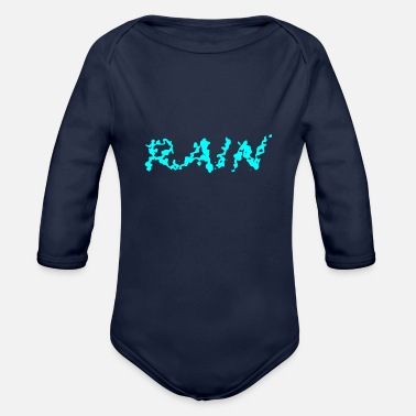 Rain rain - Organic Long-Sleeved Baby Bodysuit