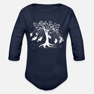 Amusing Amusement Tree - Organic Long-Sleeved Baby Bodysuit