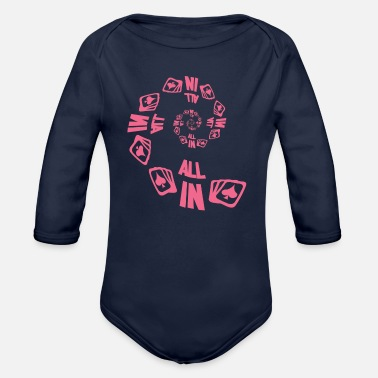 Pik Poker ALL IN Karten Pik Texas Holdem - Organic Long Sleeve Baby Bodysuit