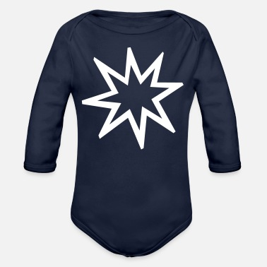 Exploding Exploding Star - Organic Long-Sleeved Baby Bodysuit
