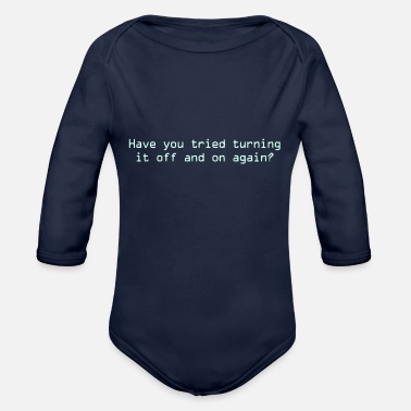 Off Off and On - Organic Long-Sleeved Baby Bodysuit