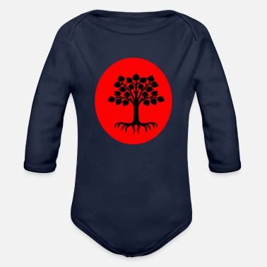 Plant-grounds plant - Organic Long-Sleeved Baby Bodysuit