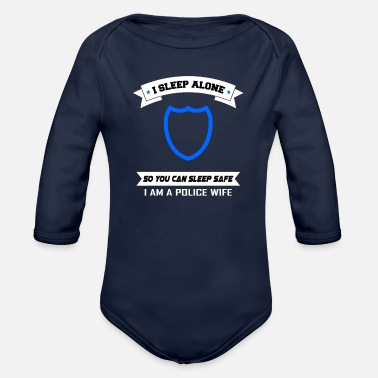 Bluecoat police officer gift protection woman wife job - Organic Long-Sleeved Baby Bodysuit