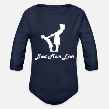 Proudmum Mum - Organic Long-Sleeved Baby Bodysuit