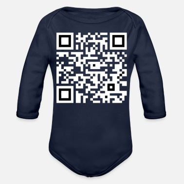 Introverted QR - Organic Long-Sleeved Baby Bodysuit