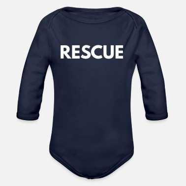 Rescue Services rescue - Organic Long-Sleeved Baby Bodysuit
