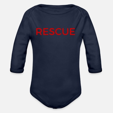 Rescue rescue - Organic Long-Sleeved Baby Bodysuit