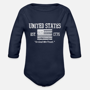 Used US GOD - Organic Long-Sleeved Baby Bodysuit