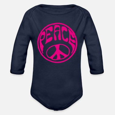 Peace For Paris Peace - Organic Long-Sleeved Baby Bodysuit