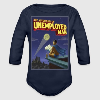The Adventure of Unemployed Man - Organic Long Sleeve Baby Bodysuit