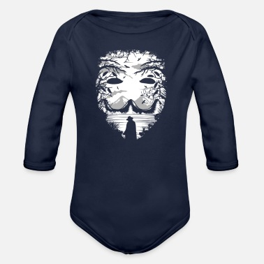 Mask The Mask - Organic Long Sleeve Baby Bodysuit