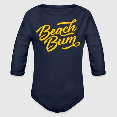 Bum Beach Bum - Organic Long Sleeve Baby Bodysuit