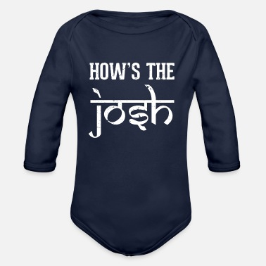 Bollywood How is the Josh Bollywood Hindi Text - Organic Long-Sleeved Baby Bodysuit