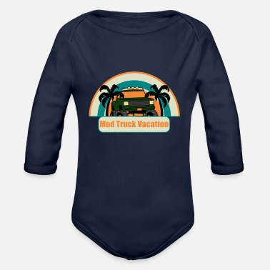 Mud Truck Mud Truck Vacation - Organic Long-Sleeved Baby Bodysuit