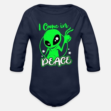 Alien Aliens - Organic Long-Sleeved Baby Bodysuit
