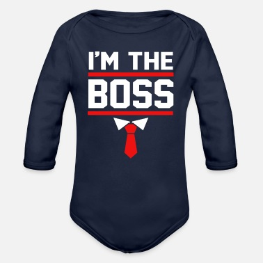 Corporate CEO Im The Boss Future CEO Kids - Organic Long-Sleeved Baby Bodysuit