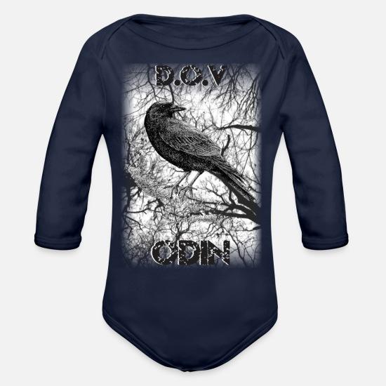 2376a98c Odins Ravens Organic Long-Sleeved Baby Bodysuit | Spreadshirt