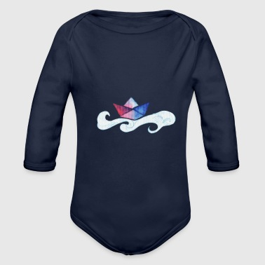 Paper Paper Boat - Organic Long Sleeve Baby Bodysuit