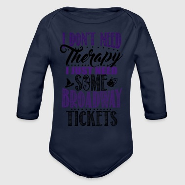 Broadway Tickets - Organic Long Sleeve Baby Bodysuit