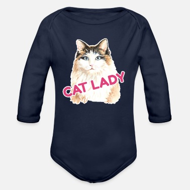 Cat Lady Cat Lady - Organic Long-Sleeved Baby Bodysuit