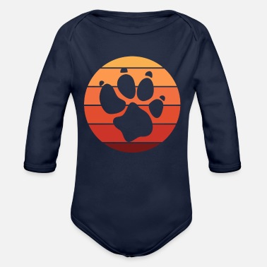 Paw Paw paws imprint - Organic Long-Sleeved Baby Bodysuit