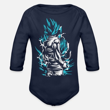 Goku Dragon Ball - Goku SSB - Organic Long-Sleeved Baby Bodysuit