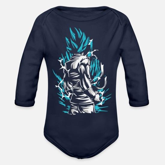 0d8f6eb87 Super Baby Clothing - Dragon Ball - Goku SSB - Organic Long-Sleeved Baby  Bodysuit