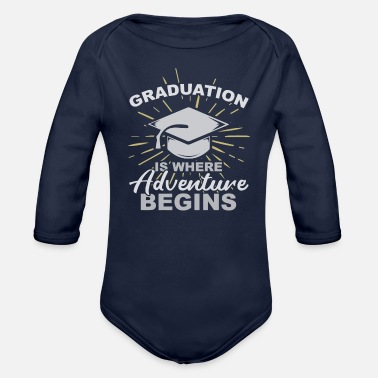 Convocation Graduation is where T-Shirt - Organic Long-Sleeved Baby Bodysuit