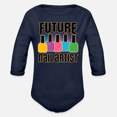 Training Future Nail Artist Beauty Tech - Organic Long-Sleeved Baby Bodysuit