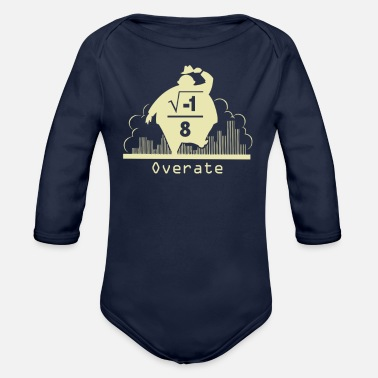 Over Overate - Organic Long Sleeve Baby Bodysuit