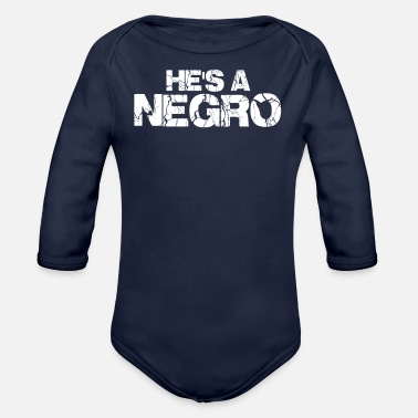 Negro Hes A negro - Organic Long-Sleeved Baby Bodysuit