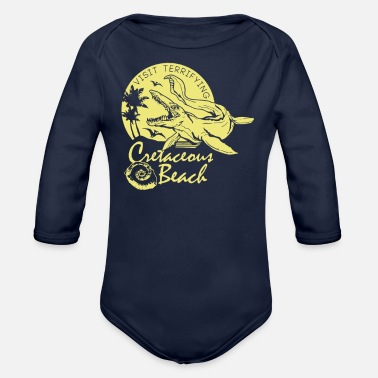 Cretaceous Period Cretaceous Beach - Organic Long-Sleeved Baby Bodysuit
