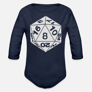 Number Number - Organic Long Sleeve Baby Bodysuit
