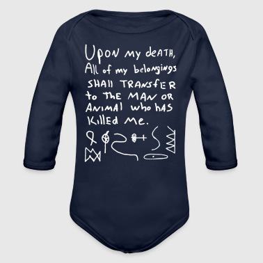 RON_SWANSON S WILL RIDDLE MAP PARKS AND RECREATION - Organic Long Sleeve Baby Bodysuit