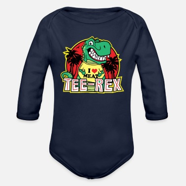 Wear Wearing Dinosaur - Organic Long Sleeve Baby Bodysuit