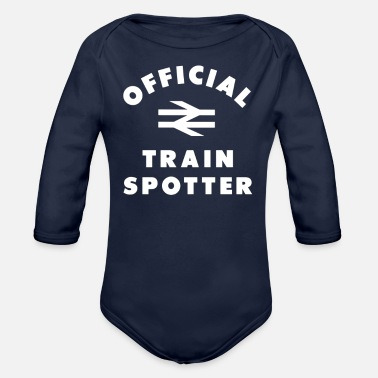 Official Person Official Trainspotter - Organic Long Sleeve Baby Bodysuit