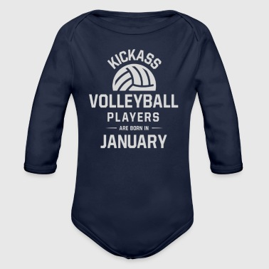 Volleyball Players - Organic Long Sleeve Baby Bodysuit
