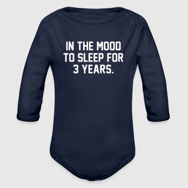 In the mood - Organic Long Sleeve Baby Bodysuit