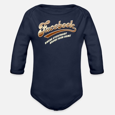 Write Your Name Where Everybody Knows Your Name - Organic Long-Sleeved Baby Bodysuit
