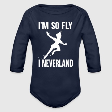 I m So Fly - Organic Long Sleeve Baby Bodysuit