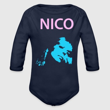Nico - Organic Long Sleeve Baby Bodysuit