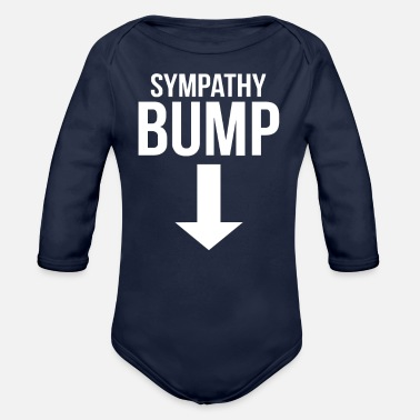 Beer Belly Sympathy Bump Novelty Beer Belly - Organic Long-Sleeved Baby Bodysuit