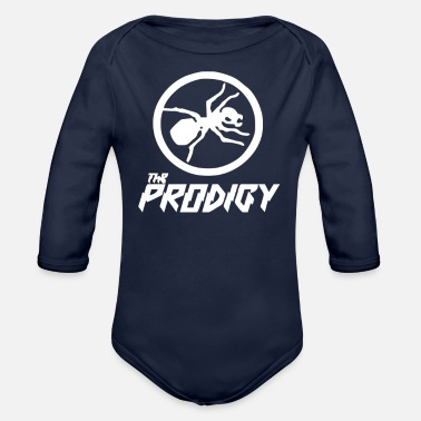 Ant The Prodigy Ant Logo - Organic Long-Sleeved Baby Bodysuit