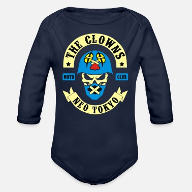 Tokyo Neon The Clowns Neo Tokyo - Organic Long-Sleeved Baby Bodysuit