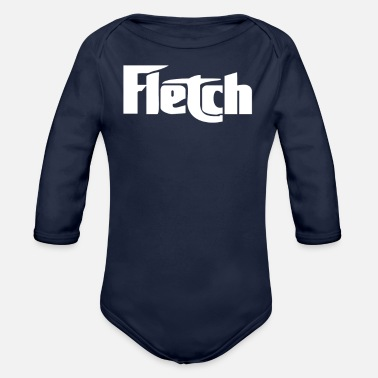Distressed Fletch distressed - Organic Long-Sleeved Baby Bodysuit