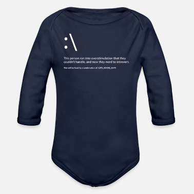 Death by Introversion - Organic Long-Sleeved Baby Bodysuit