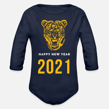 Happy new year. - Organic Long-Sleeved Baby Bodysuit