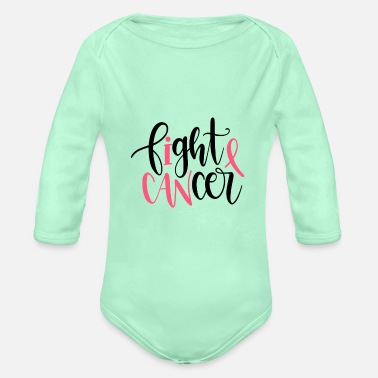 Fight Cancer Fight cancer - Organic Long-Sleeved Baby Bodysuit