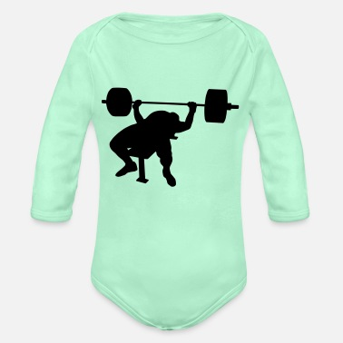 Power Press Bench press - Organic Long-Sleeved Baby Bodysuit